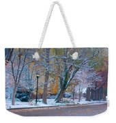 Autumn Winter Street Light Color Weekender Tote Bag