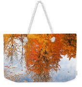 Autumn With Colorful Foliage And Water Reflection 19 Weekender Tote Bag