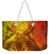 Autumn Wolf Weekender Tote Bag