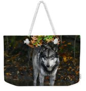 Autumn Wolf Weekender Tote Bag