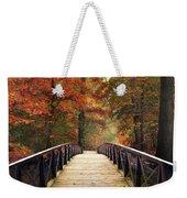 Autumn Woodland Crossing Weekender Tote Bag