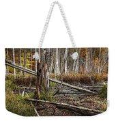 Autumn Woodland Marsh Scene Weekender Tote Bag