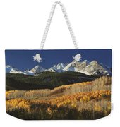 Autumnal View Of Aspen Trees And The Weekender Tote Bag