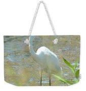 Autumn's Egret Weekender Tote Bag
