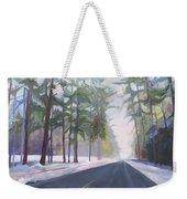 Avenue Of The Pines-winter Weekender Tote Bag