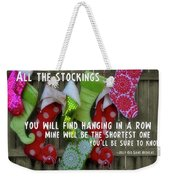 Awaiting Santa Weekender Tote Bag