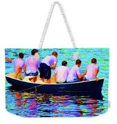Awaiting The Throw Weekender Tote Bag
