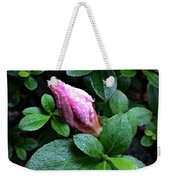 Awakening - Flower Bud In The Rain Weekender Tote Bag