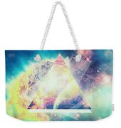 Awsome Collosal Deep Space Triangle Art Sign Weekender Tote Bag by Philipp Rietz