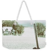 Axe In Snow Scene Weekender Tote Bag