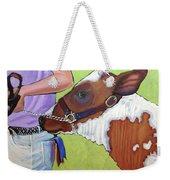 Ayrshire Show Heifer Weekender Tote Bag