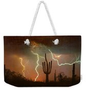 Az Saguaro Lightning Storm Weekender Tote Bag