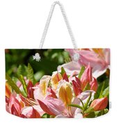 Azaleas Pink Orange Yellow Azalea Flowers 6 Summer Flowers Art Prints Baslee Troutman Weekender Tote Bag