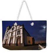 Azorean Church At Night Weekender Tote Bag