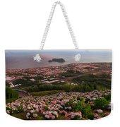 Azorean Town At Sunset Weekender Tote Bag