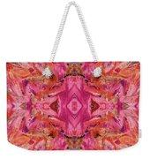 Aztec Kaleidoscope - Pattern 009 - Crimson Weekender Tote Bag