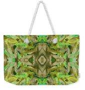 Aztec Kaleidoscope - Pattern 009 - Dark Olive Weekender Tote Bag