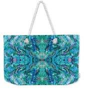 Aztec Kaleidoscope - Pattern 018 - Ocean Weekender Tote Bag