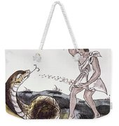 Aztec Killing A Serpent Weekender Tote Bag