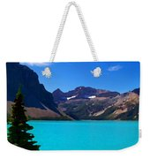 Azure Blue Mountain Lake Weekender Tote Bag
