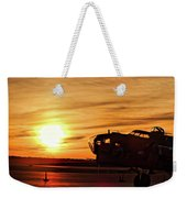 B 17 At Sunset Weekender Tote Bag