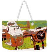 B-25 Red B Weekender Tote Bag