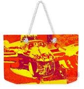 B-25 Red Yellow Weekender Tote Bag