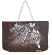 B And W Wild Grass Weekender Tote Bag