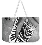 Piano Keys In A Saxophone B/w - Music In Motion Weekender Tote Bag