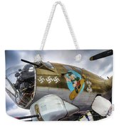 B17 Nine-o-nine Nose Art V2 Weekender Tote Bag