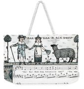Baa Baa Black Sheep Antique Music Score Weekender Tote Bag