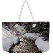 Babbling Brook, Early Spring, Lake Louise, Alberta Weekender Tote Bag