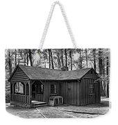 Babcock State Park Cabin - Paint Bw Weekender Tote Bag