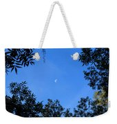 Babcock Wilderness Ranch - Daytime Moon Over Babcock Weekender Tote Bag