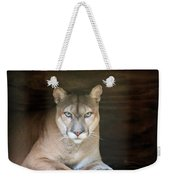 Babcock Wilderness Ranch - Portrait Of Oceola The Panther Weekender Tote Bag