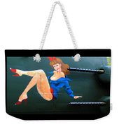 Babe On Wwii Bomber The Show Me Weekender Tote Bag