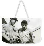 Babe Ruth And Lou Gehrig Weekender Tote Bag