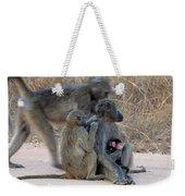 Baboon Family Weekender Tote Bag