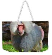 Baboon Stalking Weekender Tote Bag