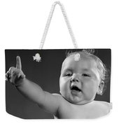 Baby Appearing To Make A Point Weekender Tote Bag