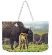 Baby Bison Weekender Tote Bag