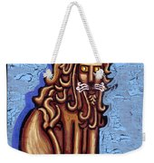 Baby Blue Byzantine Lion Weekender Tote Bag