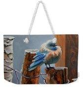 Baby Blue Weekender Tote Bag