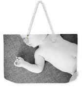 Baby Boy Black And White Weekender Tote Bag