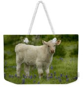 Baby Calf With Bluebonnets Weekender Tote Bag