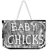Baby Chicks Bw Weekender Tote Bag