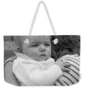 Baby Content On Mom's Shoulder Weekender Tote Bag