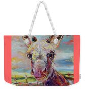 Baby Donkey Painting By Kim Guthrie Art Weekender Tote Bag