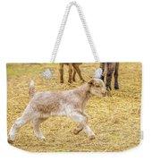 Baby Goat On The Run Weekender Tote Bag