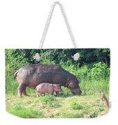 Baby Hippo 2 Weekender Tote Bag